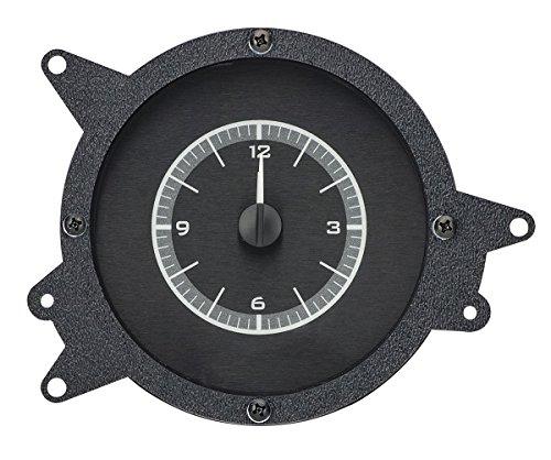 Dakota Digital 69 70 Ford Mustang Analog Clock Gauge for VHX gauges Black Alloy White VLC-69F-MUS-K-W