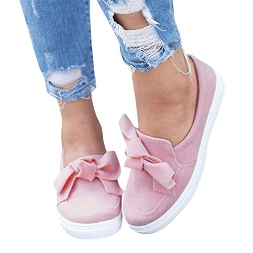 Style Flats Heel - Clearance!Women Casual Shoes,Todaies New Women Hollow Out Shoes Round Toe Platform Flat Heel Slip on Ladies Casual Shoes 2018 (US:5, Pink 2)