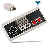 Zeato Wireless NES Mini Classic Controller, Rechargeable NES Wireless Gamepad/Joypad for Nintendo Mini NES Classic Edition Game System (White)
