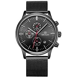 Woman, Quartz Watch, Stylish, Outdoor, Multifunction, 6 Pointer, Calendar, Metal, M0515