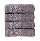 HYGGE Premium Turkish Cotton Hand Towel with Floral