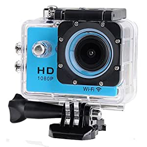 Annong WiFi SJ4000 Waterproof Action Camera 12MP 1080P H.264 1.5 Inch 170° Wide Angle Lens Sport DV Action Camera For Sports, Diving, Motorcycles, Snowmobiles, Snowboarding and more (Blue)