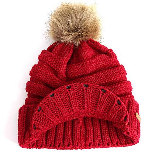 3865ae26dfa Morrivoe Winter Warm Hat Crochet Slouchy Beanie Chunky Baggy Gorras de  Punto con Visera Soft Warm