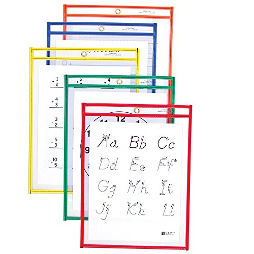 C-Line Reusable Dry Erase Pockets, 9 x 12