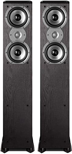 Polk Audio TSi300 3-Way Tower Speakers with Two 5-1 4 Drivers – Pair Black