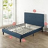 Zinus Omkaram Upholstered Platform Bed With Wood