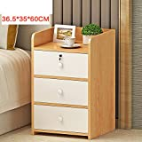 Simple bedside table [modern] Living room Storage cabinets Assemble the filing cabinet Data cabinet edge-G