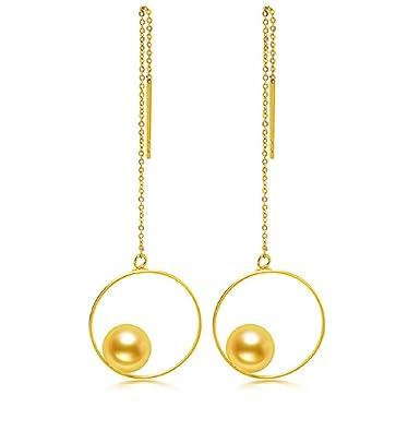 Gowe 6–6,5 mm japanische Akoya Perle 18 K Gold Ohrringe Draht ...