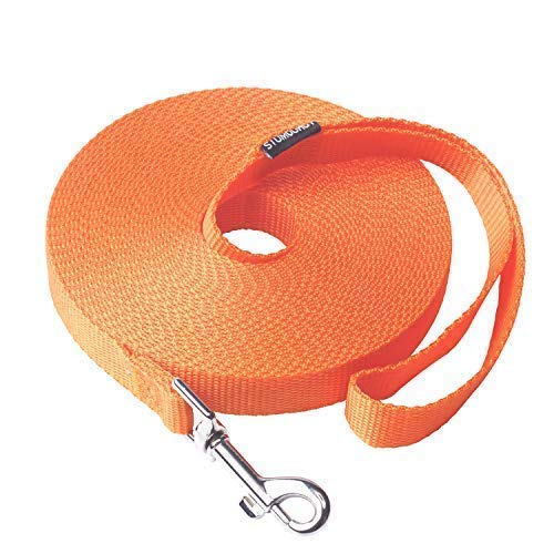 Siumouhoi Dog/Puppy Subject to Recall Training and Behavior Training Aided Rope- 15 ft 20 ft 30 ft 40 ft 50 ft Dog Leash Long line -Training Leash, Extended Rope for Training. (30Feet, Orange)