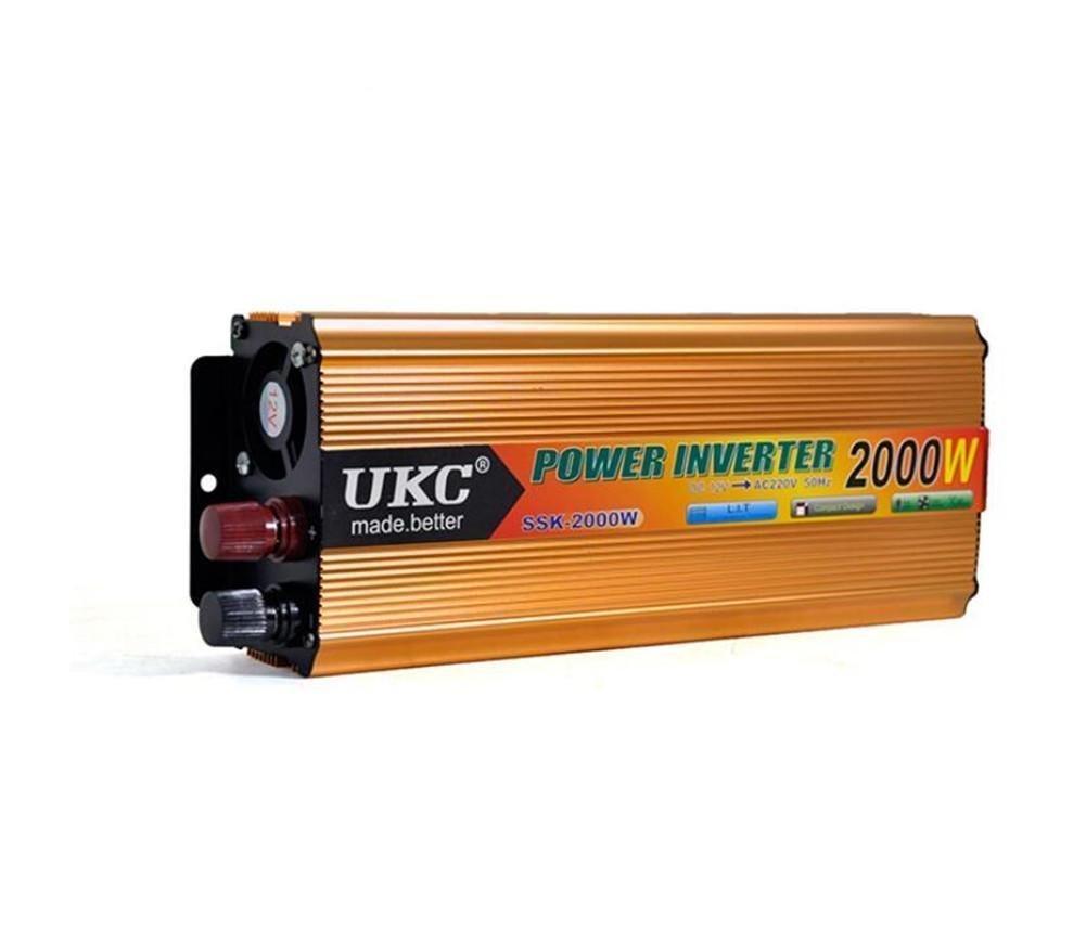 HSDMWJD Spannungswechselrichter 2000W Auto-Energie-Inverter DC DC DC 12V zu AC220-230V mit 4.2A USB-Häfen für Laptop, Tabletten und Telefone efccf6