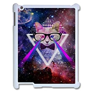 Galaxy Hipster Cat Original New Print DIY Phone Case for Ipad2,3,4,personalized case cover ygtg551509