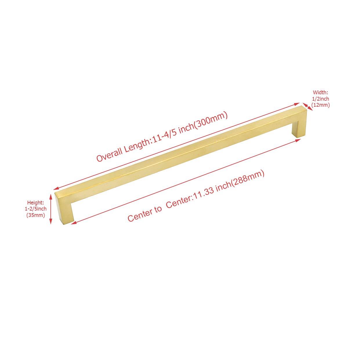 5 St/ück Goldenwarm Goldene Griff Feststehend Dusche M/öbelgriffe Lochabstand 160mm LSJ12GD160 Antike Schrankgriffe Stangengriff K/üchengriff