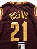 Autographed/Signed Andrew Wiggins Cleveland Cavaliers Red Basketball Jersey JSA COA