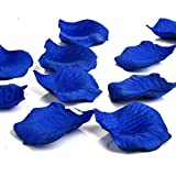 Generic Fabric Silk Flower Rose Petals Wedding Party Decoration Table Confetti Package of 1000-Blue
