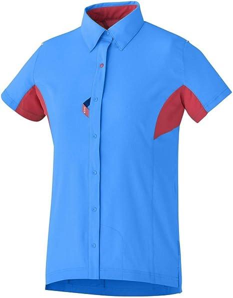 Shimano Shirt Button Up Lightning Blue/Jazzb S Women: Amazon.es ...