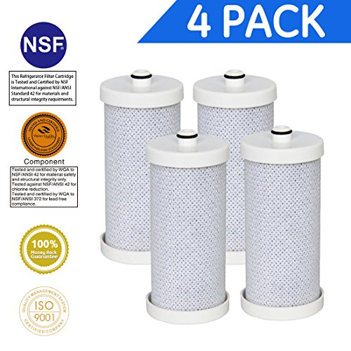 Icepure RWF2300A 4PACK Compatible with Frigidaire WF1CB ,WFCB,218710901,RF-100,KENMORE 46 9906,9910 Water filter