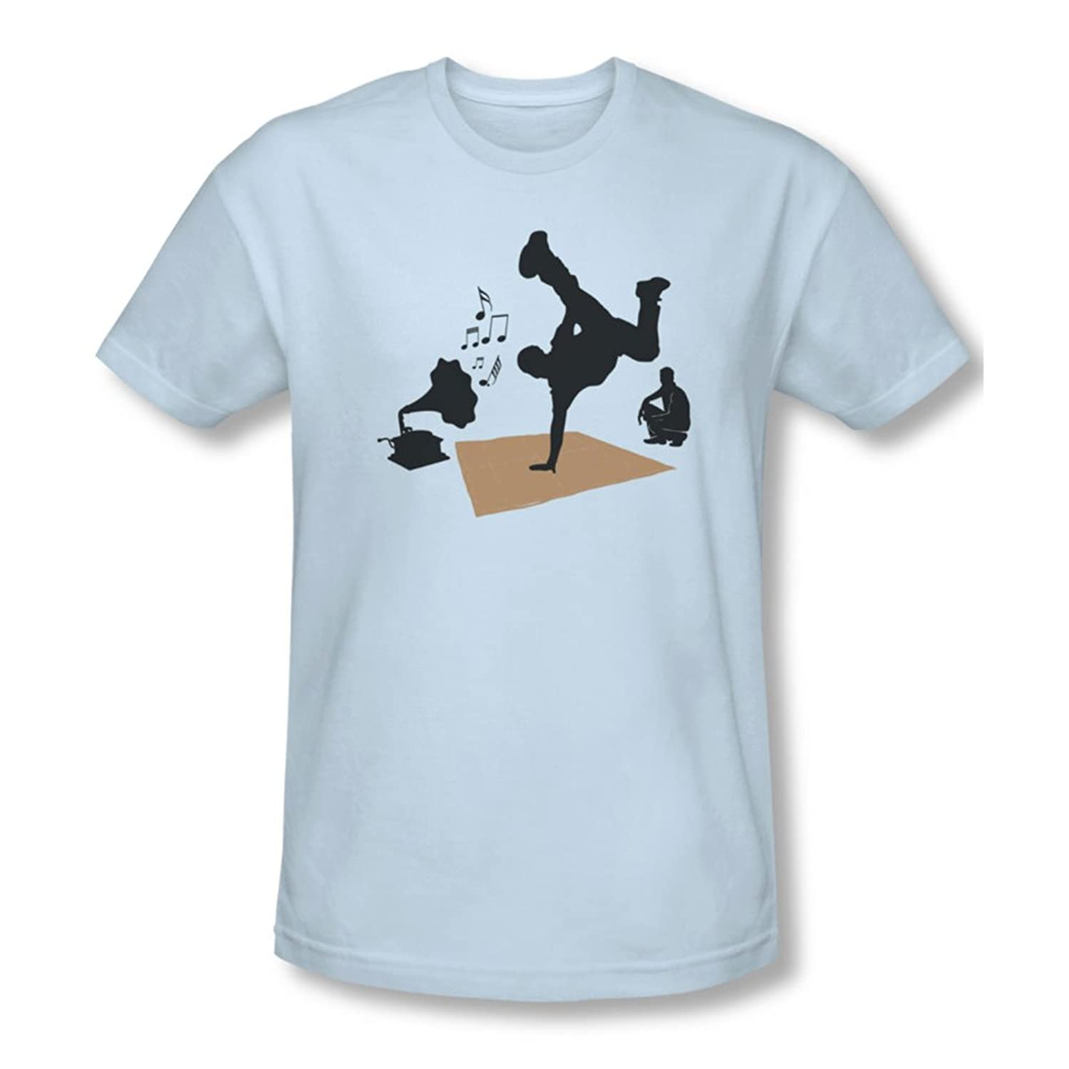 Kickin It Olde School - Mens Slim Fit T-Shirt In Light Blue