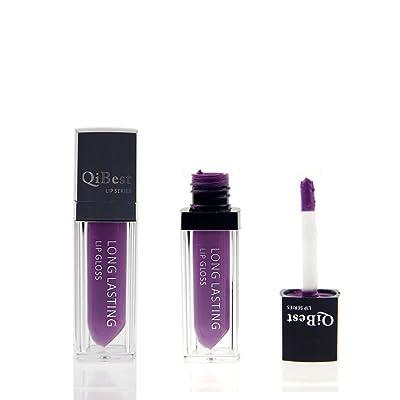 ¡ Venta caliente! Impermeable lápiz labial, Internet brillo labial de larga duración líquido mate (Púrpura(09))