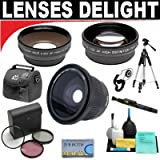 .42x HD Super Wide Angle Fisheye Lens + 2x Digital Telephoto Professional Series Lens + 0.5x Digital Wide Angle Macro Professional Series Lens + 3 Piece Digital Camera Filter Kit + 6-Piece Deluxe Cleaning Kit + Full Size Tripod + Deluxe DB ROTH Accessory Kit For The Olympus E-450, E-620, E-520, E-510, E-500, E-420, E-410, E-400, E-330, E-30, E-3, E-300, E-1 Digital SLR Cameras Which Have This (25mm) Olympus Lens