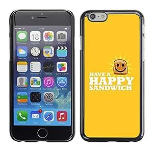Stuss Case / Funda Carcasa protectora - Happy Sandwich - Funny Lol - Apple Iphone 6 Plus 5.5