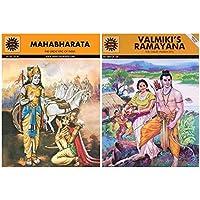 Valmiki's Ramayana (10001) + Mahabharata (Amar Chitra Katha) (Set of 2 books)