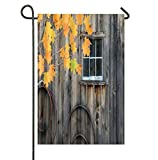 AnleyGardeflagsU Historic Millbrook Village American Old Wooden Barn Door Garden Flag for Garden Decorations Party Supplies