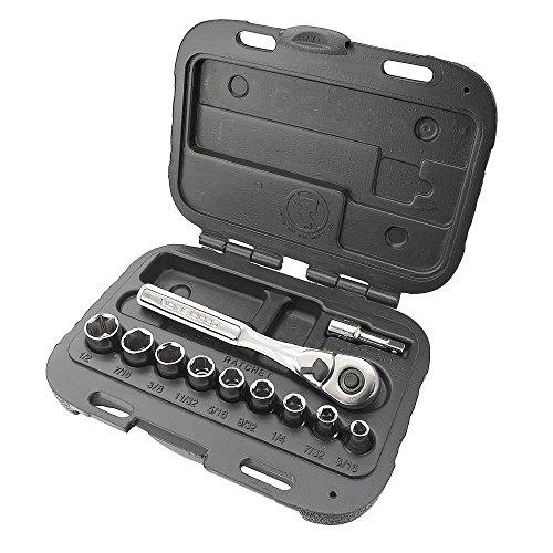Craftsman 11 Piece 6 Point Standard 1/4 Inch Socket Wrench Set, 9-34860 by Craftsman