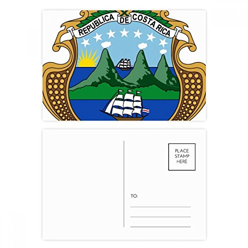 Costa Rica National Emblem Country Postcard Set Birthday Thanks Card Mailing Side 20pcs ()