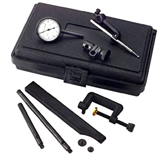 Brown & Sharpe 599-7739-10 Bestest Universal Complete Dial Test Indicator Set with Case, 4.0-48 Thread, White Dial, 25.4mm Dial Dia.
