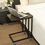 Indoor Multi-function Accent table Study Computer Desk Bedroom Living Room Modern Style End Table Sofa Side Table Coffee Table Metal Frame Laptop Table