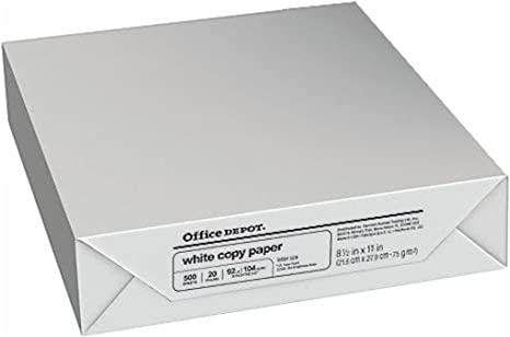 Printing Copy Paper Letter Fax White 8.5 x 11 inches 1 Ream 500 Sheets