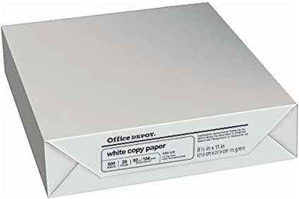 office depot copy fax laser inkjet printer paper 8 12 inch x 11
