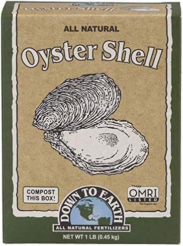 Down to Earth Organic White Oyster Shell OMRI, 1 lb