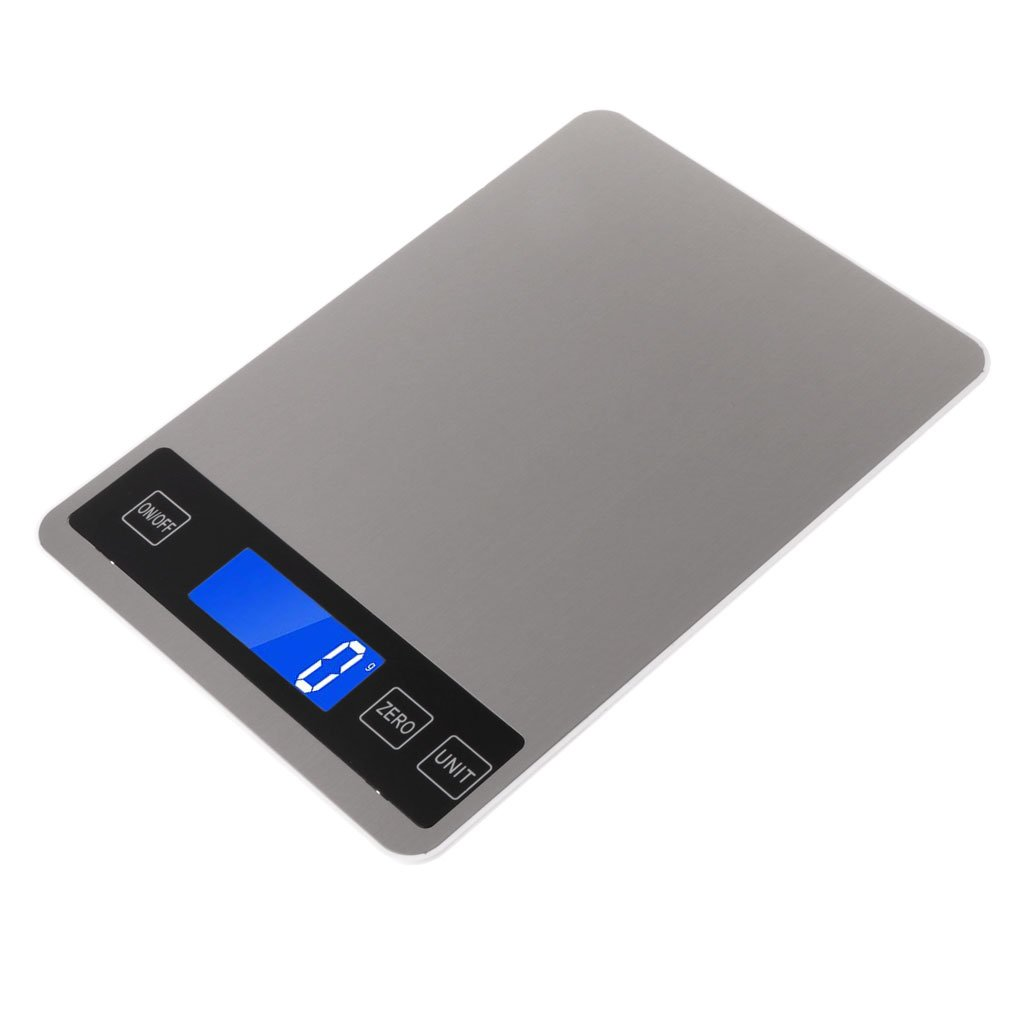 Sarora - Digital Kitchen Scales 22lb/10kg Charging Touch Button Waterproof Cooking Scale JW-4389