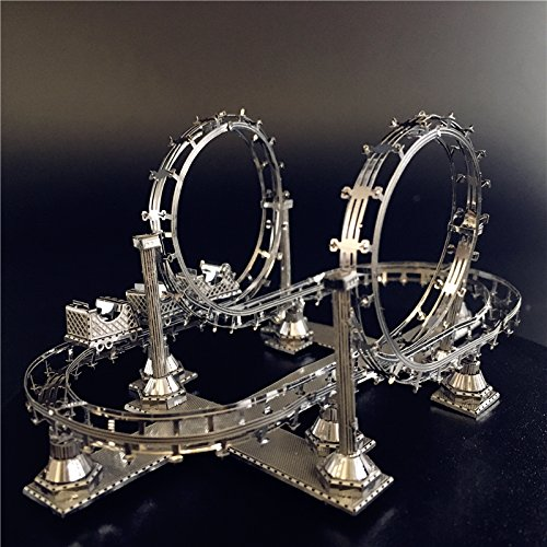 Cable Car Model Kits F31104-05 DIY 3D Laser Cut Jigsaw Toys For Audit 2pcs MoTu 3D Metal Nano Puzzle Roller Coaster