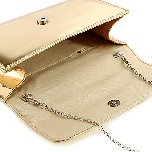 Fraulein38 Designer Mirror Metallic Women Clutch Patent Evening Bag by Fraulein38 (Image #3)