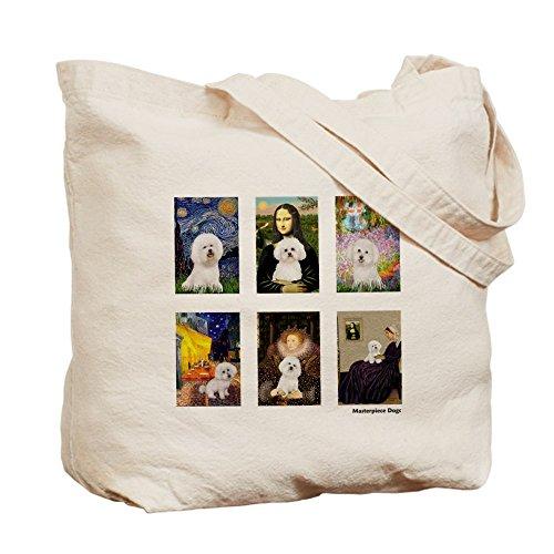 CafePress–Famous Art Bichon (CLR)–Borsa di tela naturale, panno borsa per la spesa