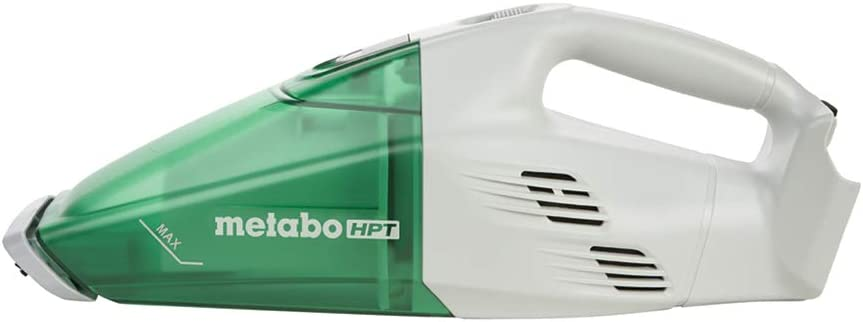 Metabo HPT 18V Cordless Handheld Vacuum, Tool Only - No Battery, Capable of 29 Minutes of Non-Stop Use, Lightweight At Just 3 Pounds (R18DSLQ4)