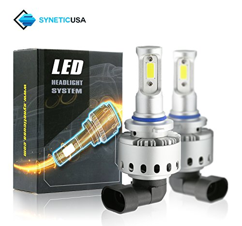All in One 100W 10000LM LED Headlight High/Low Beam Fog DRL Conversion Kit Light Bulbs 6000K White 3 Year Warranty (9006)