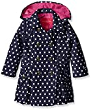 #9: London Fog Girls Lightweight Polka Dot Trench Coat
