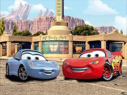 Amazoncom Cars Poster Photo Wallpaper Lightning Mcqueen And