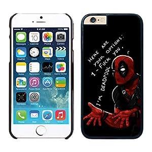 NEW DIY Unique Designed Case For iphone 6 plus Deadpool (2) iphone 6 plus Black 5.5 TPU inch Phone Case 103