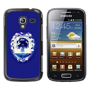 TopCaseStore / la caja del caucho duro de la cubierta de protección de la piel - Party Skull - Samsung Galaxy Ace 2 I8160 Ace II X S7560M