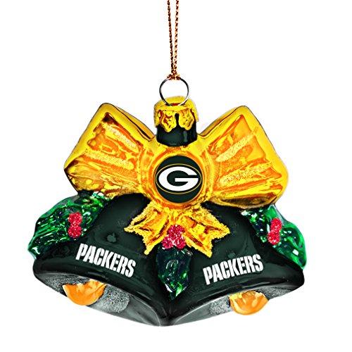 NFL Green Bay Packers Glitter Bells Ornament