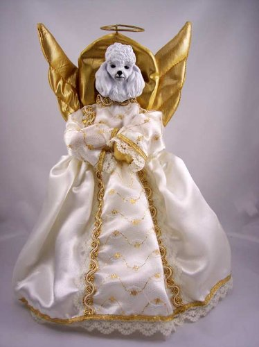 Poodle Angel Christmas Tree Topper
