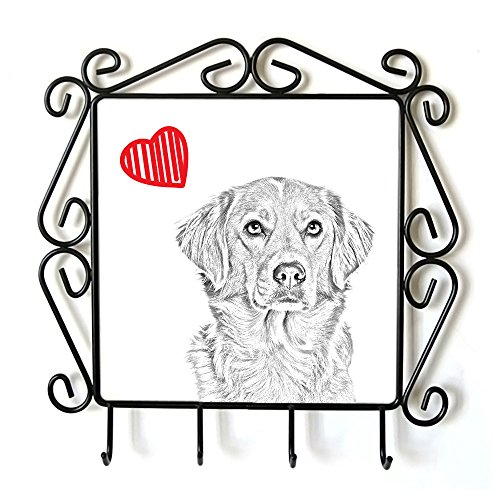 Nova Scotia Duck Tolling Retriever, clothes hanger with an image of a dog and heart (Heart Scotia Duck Nova)