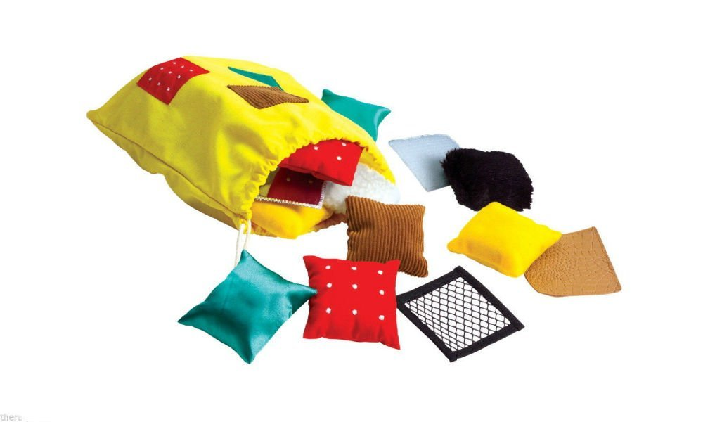 Early Learning Teaching Touchables Texture Squares Autism Tactile Sensory 3yrs+