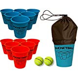 BucketBall Game Set (12 Buckets, 2 Game Balls, Tote Bag and Instructions)