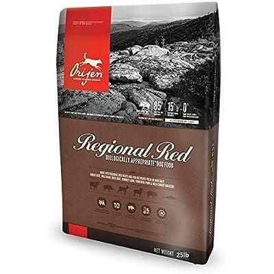 Orijen Regional Red Biologically Appropriate Dry Dog Food 25 Pound. Bag.