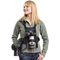 Nicama Multi Camera Carrier Chest Harness Vest with Mounting Hubs, Side Holster & Backup Safety Straps for Canon 6D 5D2 5D3 Nikon D800 D810 Sony A7S A7R A7S2 Sigma Olympus DSLR Cameras